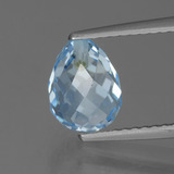 thumb image of 2.8ct Half-Drilled Briolette Sky Blue Topaz (ID: 426871)