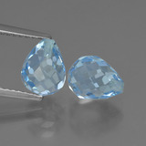 thumb image of 4.8ct Briolette with Hole Swiss Blue Topaz (ID: 426952)