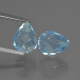 thumb image of 4.7ct Briolette with Hole Swiss Blue Topaz (ID: 426958)