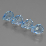 thumb image of 9.6ct Half-Drilled Briolette Sky Blue Topaz (ID: 426990)