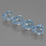 thumb image of 9.1ct Half-Drilled Briolette Sky Blue Topaz (ID: 426992)