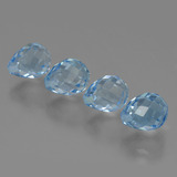 thumb image of 2.8ct Half-Drilled Briolette Swiss Blue Topaz (ID: 426993)
