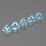thumb image of 3.1ct Trillion Facet Swiss Blue Topaz (ID: 427997)