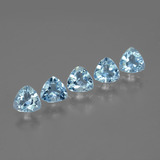 thumb image of 2.7ct Trillion Facet Swiss Blue Topaz (ID: 427999)