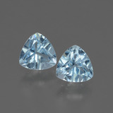 thumb image of 1.1ct Trillion Facet Swiss Blue Topaz (ID: 428486)