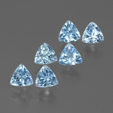 thumb image of 3.1ct Trillion Facet Swiss Blue Topaz (ID: 428728)