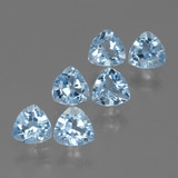 thumb image of 3.2ct Trillion Facet Swiss Blue Topaz (ID: 428731)