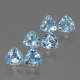 thumb image of 3.2ct Trillion Facet Swiss Blue Topaz (ID: 428732)