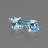 thumb image of 1.1ct Rhomb Facet Swiss Blue Topaz (ID: 429298)