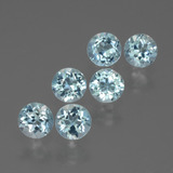 thumb image of 2.5ct Round Facet Swiss Blue Topaz (ID: 429771)