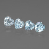thumb image of 2.1ct Heart Facet Swiss Blue Topaz (ID: 429875)