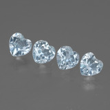 thumb image of 2.3ct Heart Facet Swiss Blue Topaz (ID: 429876)