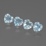 thumb image of 2ct Heart Facet Swiss Blue Topaz (ID: 429877)