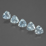 thumb image of 0.4ct Trillion Facet Light Sky Blue Topaz (ID: 430052)