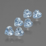 thumb image of 2.1ct Heart Facet Swiss Blue Topaz (ID: 430267)