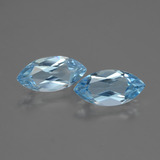 thumb image of 3.9ct Marquise Facet Swiss Blue Topaz (ID: 432502)