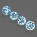 thumb image of 3.9ct Round Facet Swiss Blue Topaz (ID: 434237)