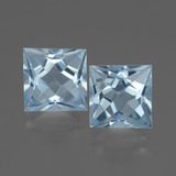 thumb image of 6.4ct Princess-Cut Sky Blue Topaz (ID: 436920)