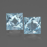 thumb image of 6.1ct Princess-Cut Sky Blue Topaz (ID: 436922)