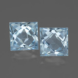 thumb image of 6.1ct Princess-Cut Sky Blue Topaz (ID: 436925)