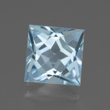 thumb image of 3.1ct Princess-Cut Sky Blue Topaz (ID: 436929)