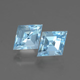thumb image of 2.5ct Rhomb Facet Swiss Blue Topaz (ID: 437098)