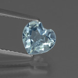 thumb image of 1.2ct Heart Facet Sky Blue Topaz (ID: 437136)