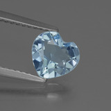 thumb image of 1.2ct Heart Facet Sky Blue Topaz (ID: 437139)