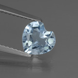 thumb image of 1.1ct Heart Facet Sky Blue Topaz (ID: 437140)