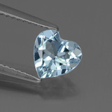 thumb image of 1.3ct Heart Facet Sky Blue Topaz (ID: 437145)