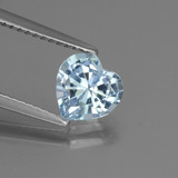 thumb image of 1.2ct Heart Facet Sky Blue Topaz (ID: 437194)
