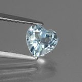 thumb image of 1.6ct Heart Facet Sky Blue Topaz (ID: 437195)