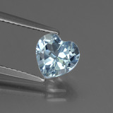 thumb image of 1.4ct Heart Facet Sky Blue Topaz (ID: 437200)