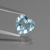 thumb image of 1.2ct Heart Facet Sky Blue Topaz (ID: 437203)