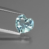thumb image of 1.3ct Heart Facet Sky Blue Topaz (ID: 437204)