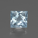 thumb image of 2.9ct Princess-Cut Swiss Blue Topaz (ID: 437360)