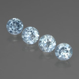 thumb image of 3.6ct Round Facet Sky Blue Topaz (ID: 437601)