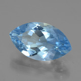 4.48 ct Marquise Facet Swiss Blue Topaz Gem 14.21 mm x 8.3 mm (Photo B)
