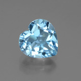 thumb image of 3.1ct Heart Facet Swiss Blue Topaz (ID: 438915)