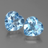 thumb image of 5.9ct Heart Facet Swiss Blue Topaz (ID: 439000)