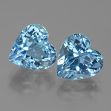 thumb image of 6.9ct Heart Facet Swiss Blue Topaz (ID: 439004)