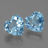 3.36 ct Heart Facet Swiss Blue Topaz Gem 9.05 mm x 9 mm (Photo B)