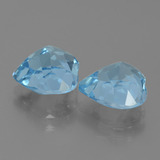 3.36 ct Heart Facet Swiss Blue Topaz Gem 9.05 mm x 9 mm (Photo C)