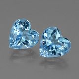 thumb image of 5.9ct Heart Facet Swiss Blue Topaz (ID: 439177)