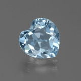 thumb image of 2.9ct Heart Facet Swiss Blue Topaz (ID: 439289)