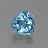 thumb image of 3.4ct Heart Facet Swiss Blue Topaz (ID: 439291)