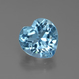 thumb image of 3.2ct Heart Facet Swiss Blue Topaz (ID: 439342)