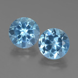 thumb image of 6.5ct Round Facet Swiss Blue Topaz (ID: 439724)