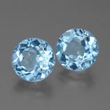 3.15 ct Round Facet Swiss Blue Topaz Gem 9.26 mm  (Photo B)