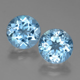 thumb image of 6.6ct Round Facet Swiss Blue Topaz (ID: 439784)